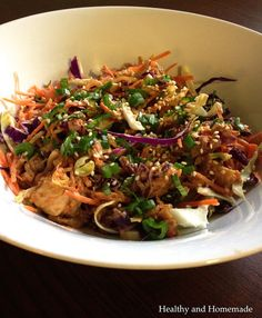 Spicy Thai Peanut & Chicken Noodles Healthy and Homemade