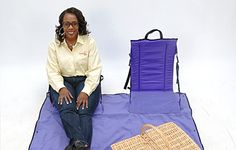 The Unique Seat is an innovative seating system that starts as a backpack and converts into outdoor seating for one or two people, including a comfortable multi-purpose blanket.