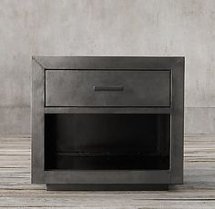 Nightstands - La Salle Metal Wrapped Collection - Zinc | RH