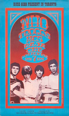 The Who/Troggs/MC5/Raja, April 7, 1968 - CNE Coliseum, Toronto Art by Gary Grimshaw