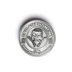 2nd Amendment Gun Rights pin is heavy duty lead free pewter pins.