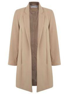 Miss Selfridge Camel duster coat- at Debenhams.com