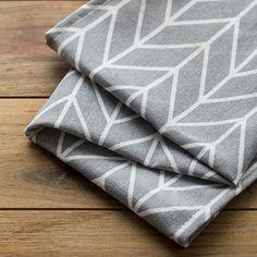 Geometric cotton napkin