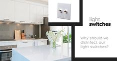 Light Switches clues you in on just why disinfecting your switches is important Touch Light Switch, Light Switches, Vinegar And Water, Grout Cleaner, Switch Plates, Cleaning Solutions, Clean House, Interior Styling, Floors Kitchen
