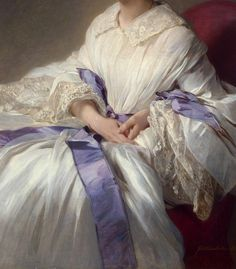 """Portrait of Countess Olga Shuvalova"" (1858) (detail) by Franz Xaver Winterhalter (1805-1873)."