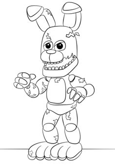 FNaF Springtrap Coloring Page Fnaf Pages For Boys To