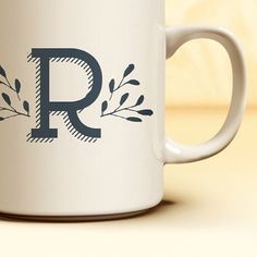Complete your mug collection with this monogrammed staple from the Julie Bluet Etsy!