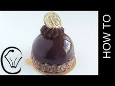 Shiny Mirror Glaze Mousse Dome with Crispy Chocolate Base and Ganache Topping - YouTube