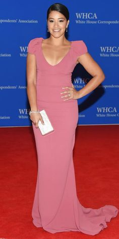 Celebrities Take Over the2015 White House Correspondents' Dinner - Gina Rodriguez from #InStyle