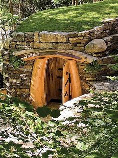 Root cellar, love the stonework and door!