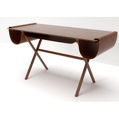 Valsecchi 1918 Oscar Walnut and Leather Desk | Panik Design