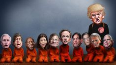 https://flic.kr/p/KcX2pj | Donald Trump's Senate Candidate Hostages | Donald Trump's takeover of the Republican party put's these GOP Senate candidates at risk.  This caricature of Donald Trump was adapted from Creative Commons licensed images from Gage Skidmore's flickr photostream.  This caricature of Ron Johnson was adapted from a Creative Commons licensed photo from Gage Skidmore's Flickr photostream. This caricature of Roy Blunt was adapted from a Creative Commons licensed photo from…