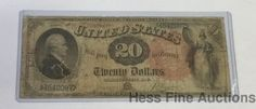 Scarce 1880 Large Round Red Seal $20 United States Currency Note