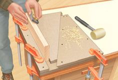 Shop-made Wedge-style bench vise