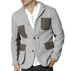 Under Tow Flags Knitted Blazer