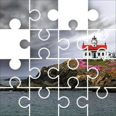 Battery Point Jigsaw Puzzle, 48 Piece Classic. Battery Point Light is a lighthouse in Crescent City, California, United Disney Puzzles, Free Online Jigsaw Puzzles, Point Light, Crescent City, California Coast, Lighthouse, Relax, Place Card Holders, Places