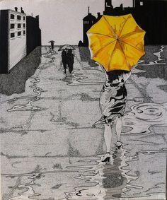 Find your Yellow Umbrella by Aethos007.deviantart.com on @deviantART