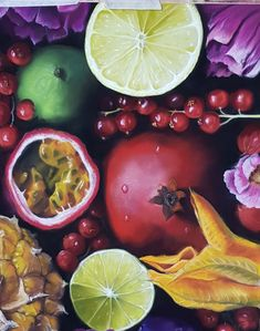 finished pastel painting of different fruits Different Fruits, Food Painting, Change, Artist Art, Pastel, Artwork, Pie, Work Of Art, Crayon Art