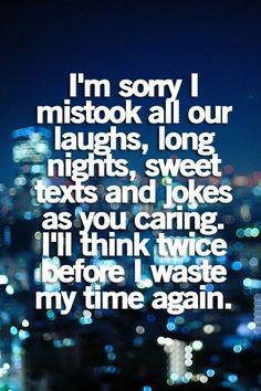 I'm sorry I mistook!