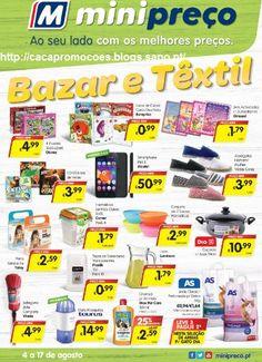 Promoções Minipreço - Antevisão Folheto Bazar / Têxtil - 4 a 17 agosto - http://parapoupar.com/promocoes-minipreco-antevisao-folheto-bazar-textil-4-a-17-agosto/