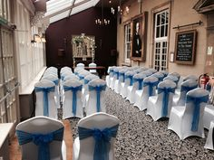 Royal blue organza at The Manor Hotel
