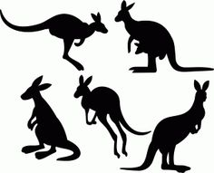 Welcome to the Silhouette Design Store, your source for craft machine cut files, fonts, SVGs, and other digital content for use with the Silhouette CAMEO® and other electronic cutting machines. Australian Animals, Australian Art, Animal Silhouette, Silhouette Design, Kangaroo Craft, Australia Crafts, Animal Cutouts, Animal Stencil, Animal Templates