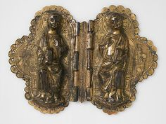 Morse, French, ca. 1250. A morse is a clasp attached to a liturgical vestment to prevent the garment from slipping from the shoulders. Gilded copper is at once heavy enough to support the weight of the fabric yet resplendent enough to be suitably ceremonial in appearance.