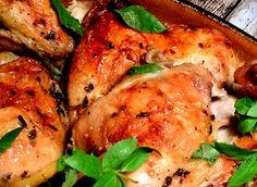 Kylling med citron, hvidløg og frisk timian