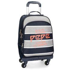 Pepe Jeans 6212861 Pierre Mochila Escolar, 44 cm, 30.49 litros: Amazon.es: Equipaje Fashion, Wheeled Backpacks, Baggage, Suitcases, Moda, Fashion Styles, Fashion Illustrations