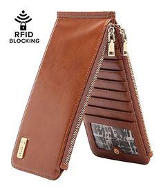 CrossLandy Women's Bifold Thin Multi Card Case Rfid Walle...