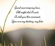 Looking for romantic good morning poems for him to compliments him by a beautiful poem and surprise your boyfriend or husband with this cute love lines. Soulmate Love Quotes, Love Life Quotes, Life Lesson Quotes, Love Quotes For Her, Love Yourself Quotes, Wisdom Quotes, Good Morning Poems, Morning Love Quotes, Good Morning My Love