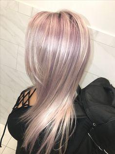 Lilac toner on platinum blonde
