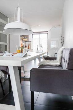 Eethoek on pinterest met benches and dining rooms - Deco eetkamer oud ...