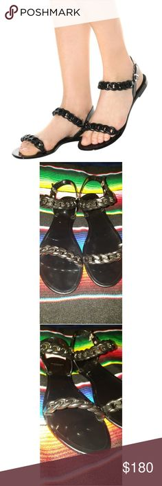 Givenchy Chain Link Jelly Sandals Gently used Black Givenchy Chain Link Jelly sandals. Euro size 41 US size 10 -11 Sorry, I do not have the original box or dust bag. Givenchy Shoes Sandals