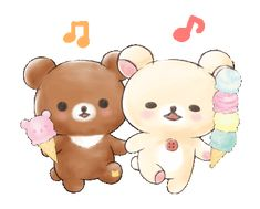 LINE Official Stickers - Rilakkuma:Korilakkuma Happy Ice cream Example with GIF Animation Cute Cartoon Drawings, Cute Kawaii Drawings, Japanese Characters, Cute Characters, Rilakkuma Wallpaper, Cute Love Gif, Tatty Teddy, Cute Friends, Amazing Drawings
