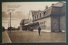Vanha kuva Hämeenlinnan rautatieasemasta