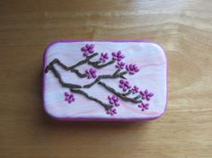Upcycled Altoids tin Polymer Mosaic Tin Cherry by ColorfulClay, $18.00