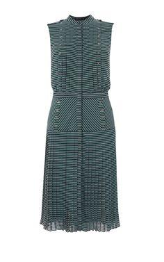 DROP WAISTED STRIPED DRESS   Karen Millen