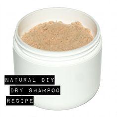 DIY Homemade Natural Dry Shampoo Recipe