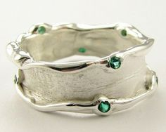 Love the texture and the tiny gemstones.