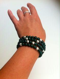Bracelet from green quartz #handmade #bijou #bracelet #quartz