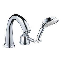 Vestige Double Handle Deck Mount Roman Tub Faucet Lever Handle With