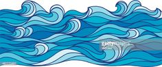 View Vector Art of Ocean Waves. Find premium, high-resolution photos at Getty Images. Ocean Wave Drawing, Wave Art, No Wave, Meer Illustration, Deco Surf, Waves Vector, Sea Waves, Surf Art, Ocean Art