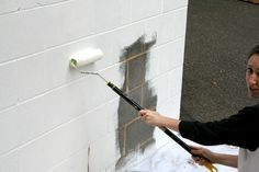 Little Things Bring Smiles: September 2012  How to paint cinder blocks