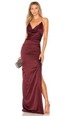 Burgundy silk gown - Gemeli Power Silk D Dupey Gown in Merlot Silk #ad