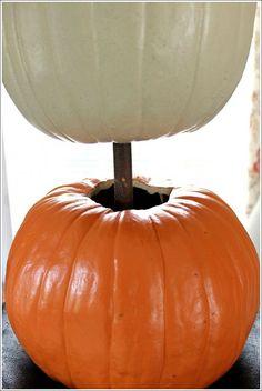 Pumpkin Topiary - Fall Decorating Ideas