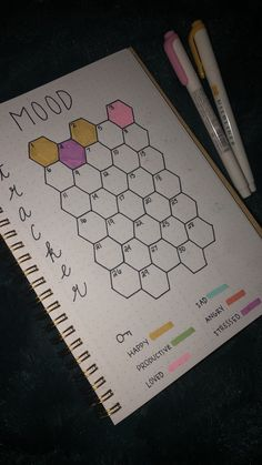 this but, try to use different shades of the same color to identify range bet Do this but, try to use different shades of the same color to identify range bet. -Do this but, try to use different shades of the same color to identify range bet. Bullet Journal Tracker, Bullet Journal Aesthetic, Bullet Journal Notebook, My Journal, Bullet Journal Inspiration, Journal Pages, Journal Ideas, Bullet Journal October, Daily Journal