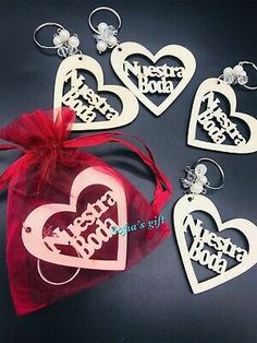 12 Wedding Favors Wood Keychains Heart Giveaway Nuestra Boda Recuerdos Llaveros  | eBay Baptism Party, Baptism Favors, Wedding Favors, Party Favors, Wooden Keychain, Wedding Types, Quinceanera Party, Table Decorations, Gifts