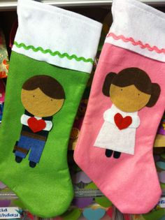 Star Wars Princess Leia and Han Solo Christmas stockings