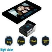 7 Inch Touchkey Wireless Digital Intercom Video Door Phone Bell with Highly Sensitive Armored Glass and Night Vision